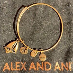 Alex & Ani gold sailboat bracelet